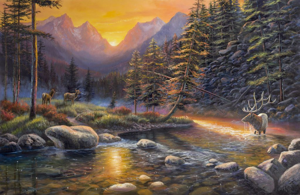 Elk Sunset *